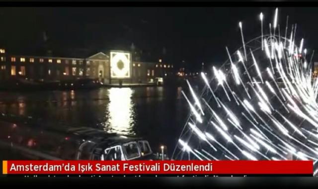 Amsterdam'da Işık Sanat Festivali Düzenlendi