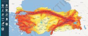 Türkiye'nin yenilenen deprem haritasıdijital ortama aktarıldı.