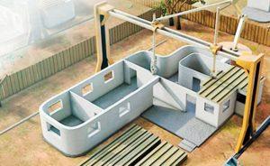 Hollanda'da Üç Boyutlu Yazıcı Teknolojisiyle Yaşanabilir Evler İnşa Ediliyor