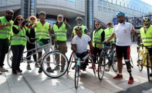 Sessiz Çığlık Bisiklet Turu Brüksel'de