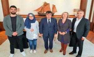 Hollanda Türk Federasyonu Belediye başkanlarını ziyaret ediyor