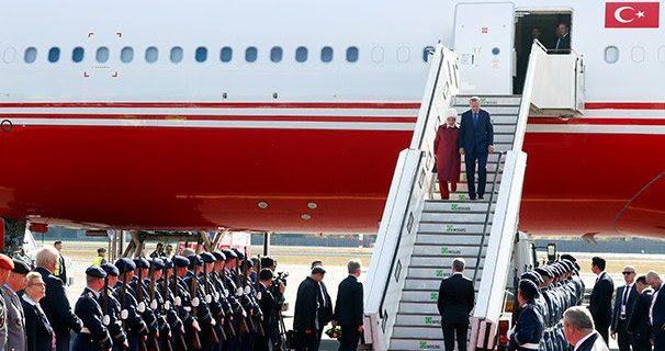 Cumhurbaşkanı Erdoğan Almanya'ya geldi