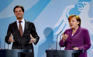 Hollanda'da Merkel-Rutte Ortak Basın Toplantısı