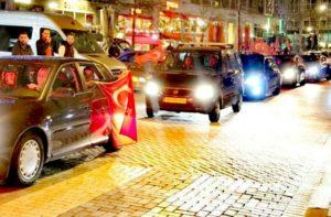Düğün konvoyları polisin takibinde