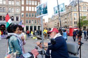 Amsterdam'da Filistin Gösterisinde İsrail Taraftarından Saldırı
