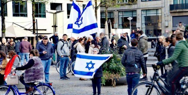 Hollanda'da Filistin gösterisinde İsrail taraftarından provokasyon