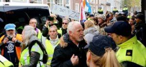 Sarı yelekliler Amsterdam'da