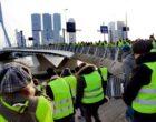 Hollanda'da Sarı Yeleklilerden Protesto Gösterisi