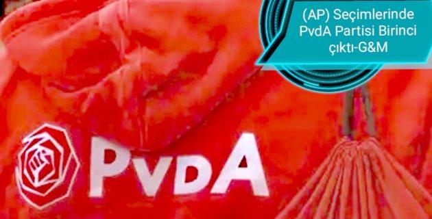 Hollanda: (AP) Seçimlerinde PvdA Partisi Birinci çıktı