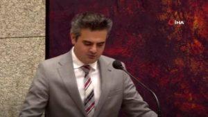 Milletvekili Kuzu'dan Hollanda Meclisinde harekata destek konuşması