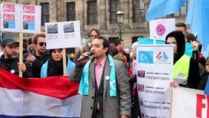 Hollanda'da Doğu Türkistan protestosu – AMSTERDAM