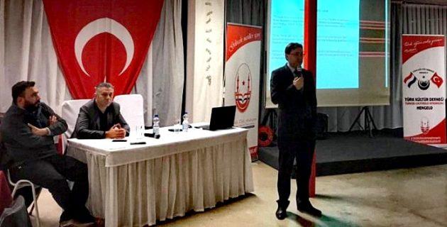 Hengelo Türk Kültür Dernegi 'Türk Tarihi ve Avrupa Türklügü' semineri düzenledi.