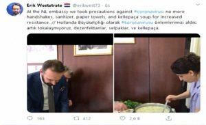Hollandalılar, Canan Karatay'ın koronavirüs tavsiyesini uyguluyor