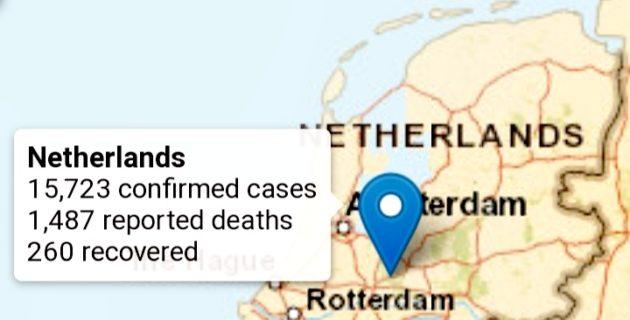 Hollanda'da Korona Virüsünden hayatını kaybedenlerin sayısı 1487'e yükseldi
