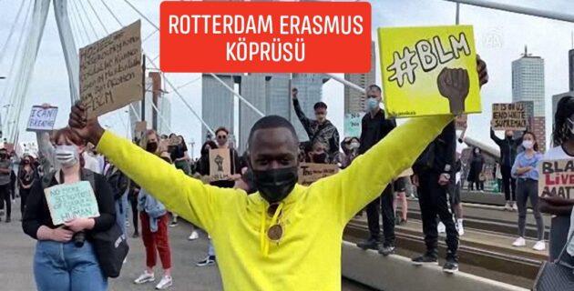 Hollanda'da George Floyd için binlerce kişi gösteri düzenledi