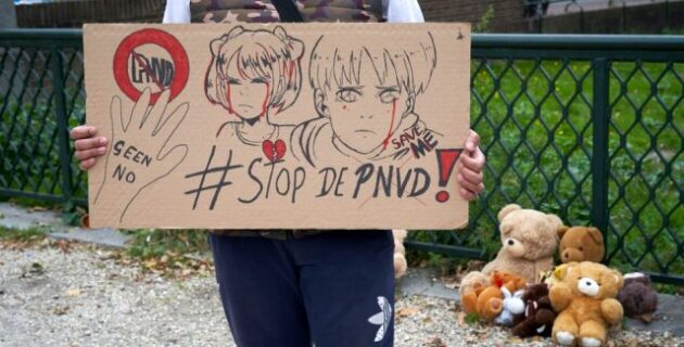 Hollanda'da çocuk ve hayvanlara yönelik cinsel istismar görüntülerinin serbest bırakılmasını savunan partiye protesto