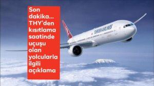 THY'den kısıtlama saatinde uçuşu olan yolcularla ilgili açıklama